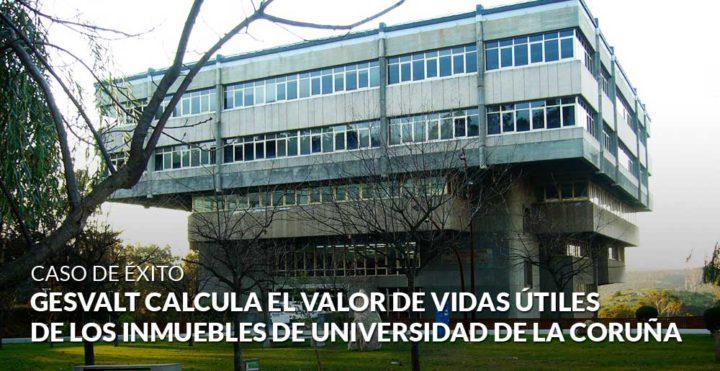 Gesvalt calcula el valor de vidas útiles de los inmuebles de Universidad de La Coruña