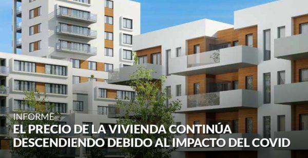 El precio de la vivienda desciende un 2,8% debido al impacto del Covid