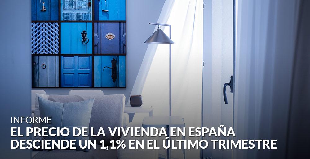 El precio de la vivienda en España desciende un 1,1% en el último trimestre