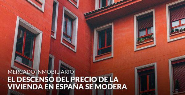El descenso del precio de la vivienda en España se modera y cae un 0,6%
