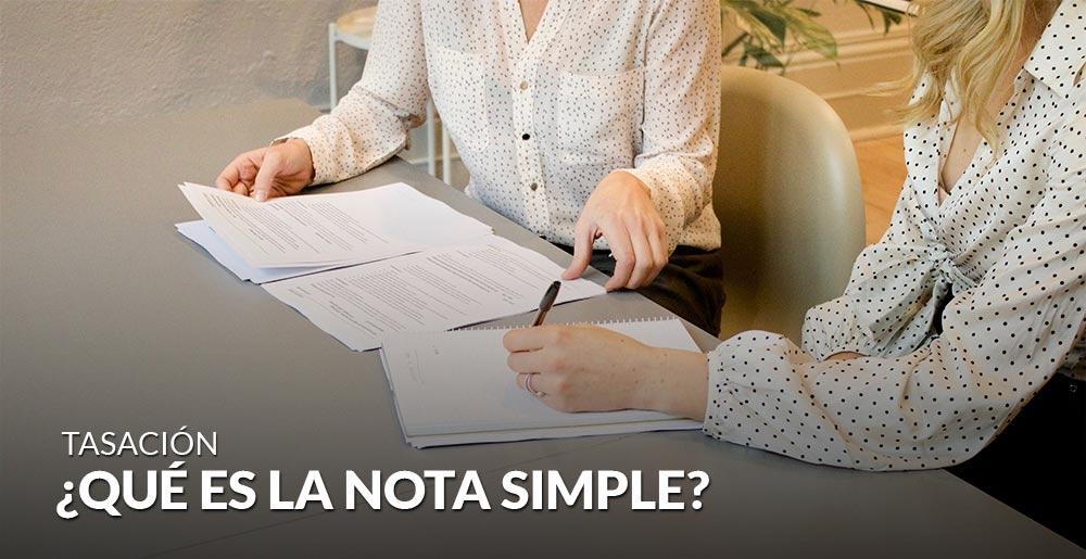 ¿Qué es la nota simple?