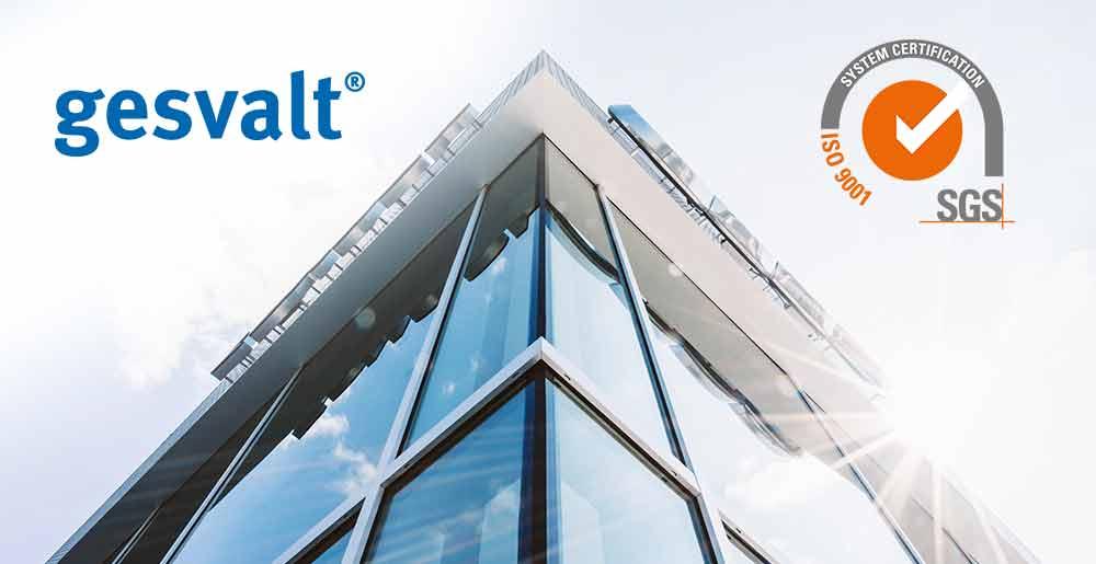Gesvalt obtiene la certificación de la norma de calidad ISO 9001:2015