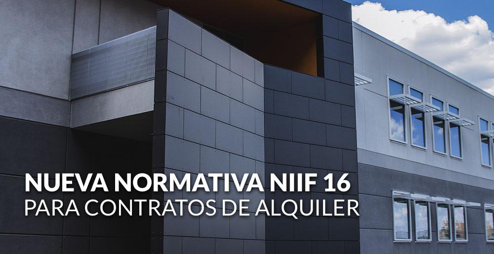 Cómo se verán afectados los contratos de alquiler, con la entrada en vigor de la nueva normativa NIIF 16