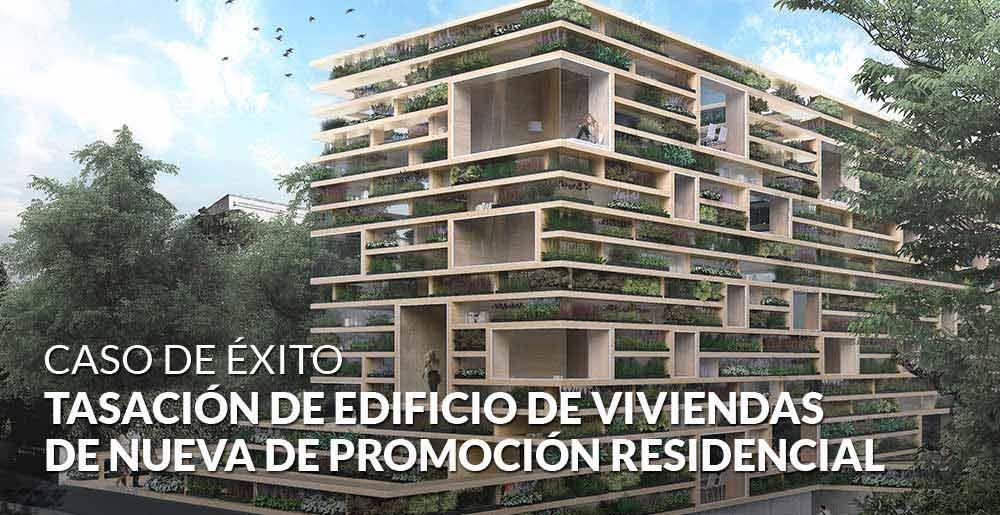 Tasación de edificio de viviendas de nueva de promoción residencial en régimen de cooperativa
