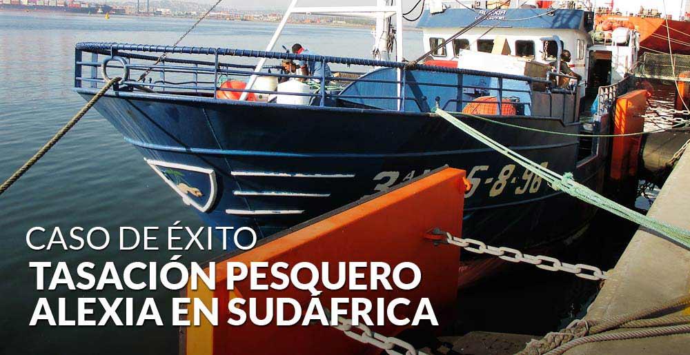 Valoración de barcos: Gesvalt tasa el pesquero Alexia en Sudáfrica