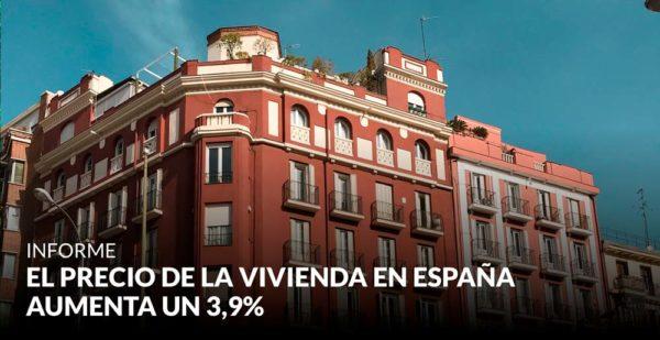 El precio de la vivienda en España aumenta un 3,9% y continúa estabilizándose cerca de los niveles prepandemia